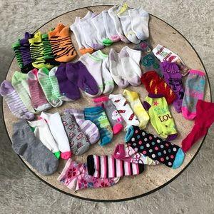A bundle variety set of children's mix match socks